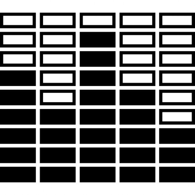 Equalizer black and white