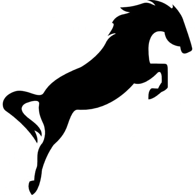 Horse galloping silhouette