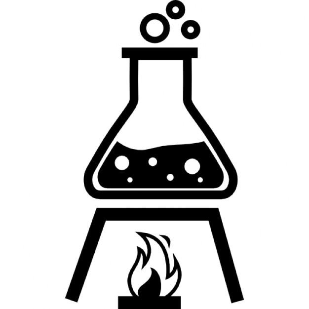Рисунок колба с водой на огне