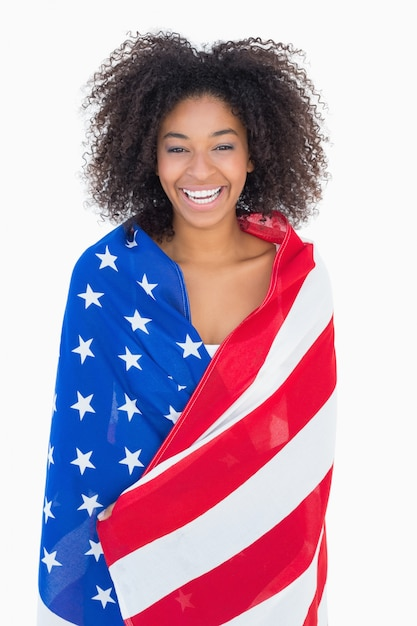 photos of girls jumping wrapped in american flag № 13424