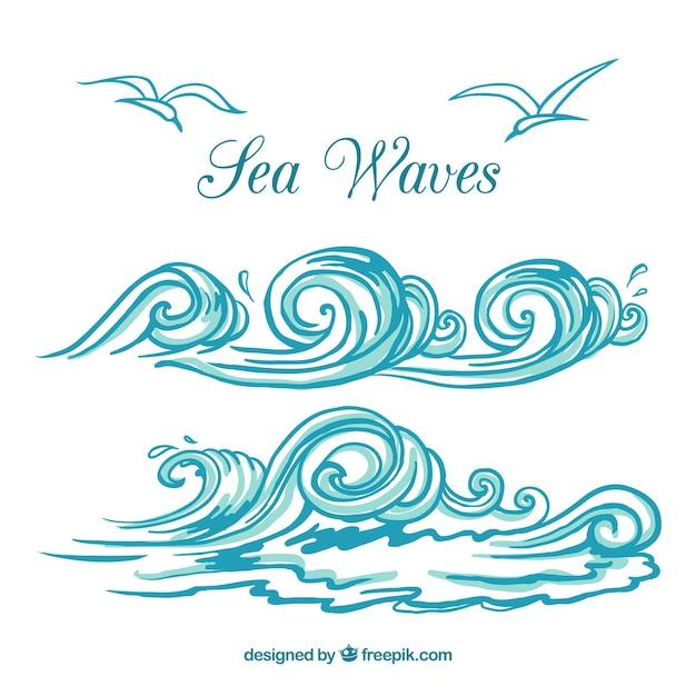 Морские Волны Вектор - lestaging