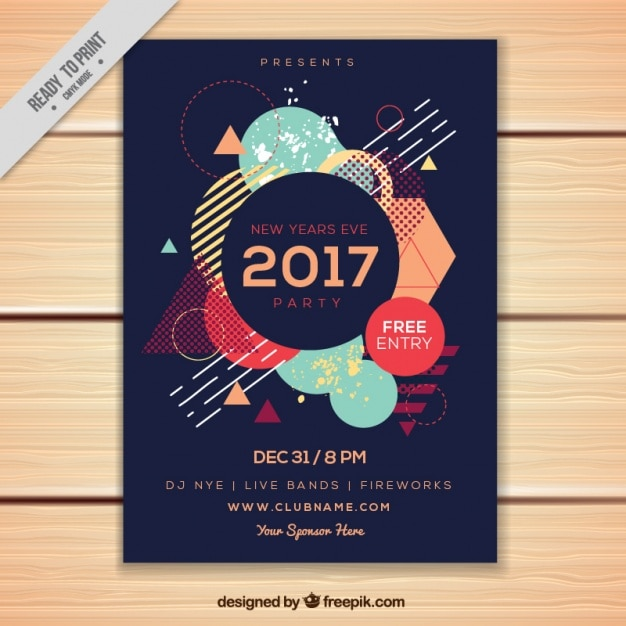 Poster flyer template free