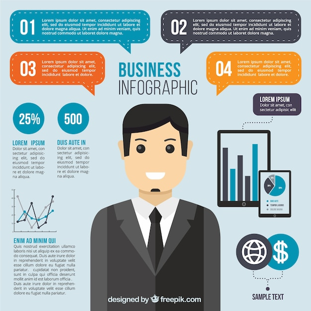 Business infographics free