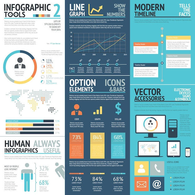 Infographic tools psd