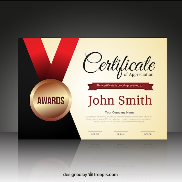 Design Certificate Template
