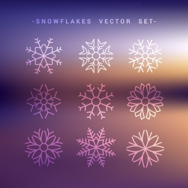 Outstanding free vector snowflake photos