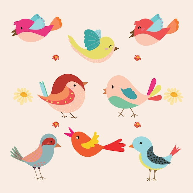 Cute bird vector free download