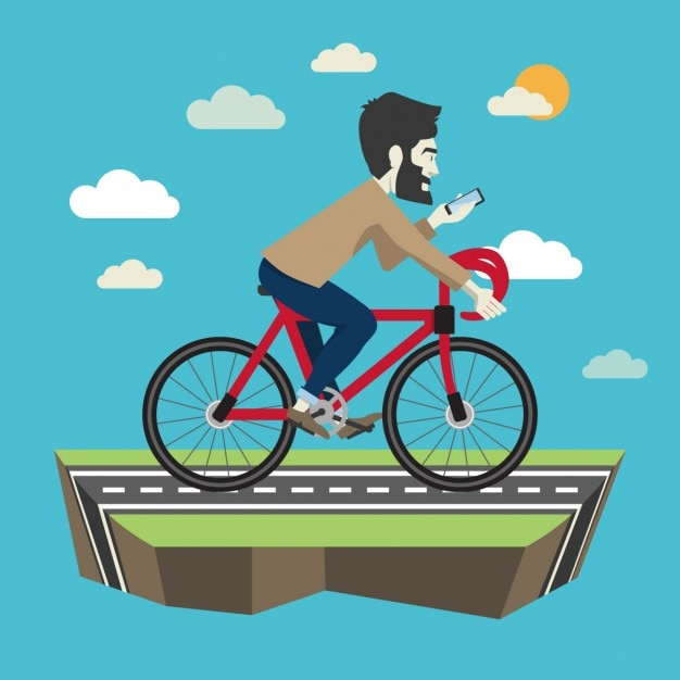 Appealing vector cycling photos