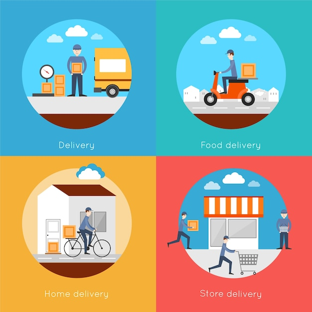Free home delivery vector