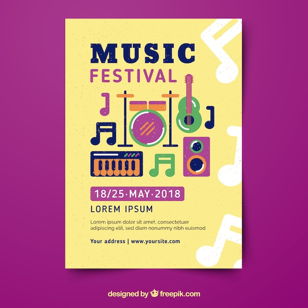 Template for music poster