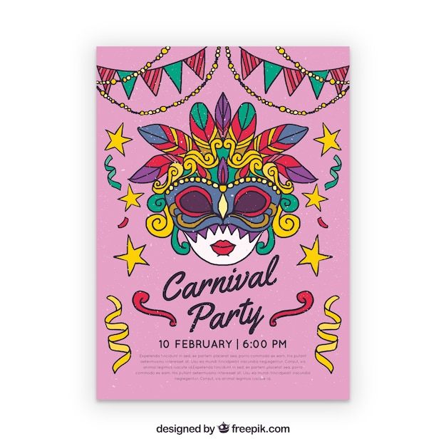 Halloween carnival poster templates