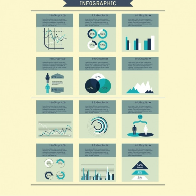 Infographic design psd free