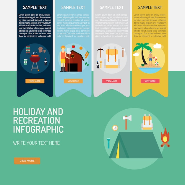 Holiday infographic template