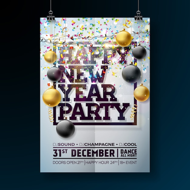 Free holiday party poster template