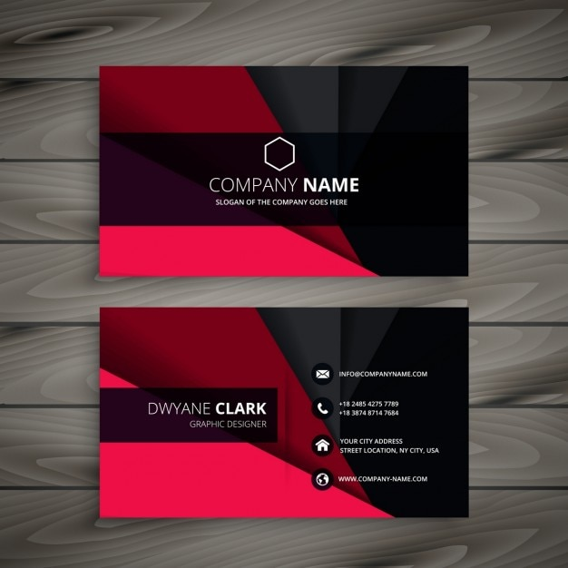 Black amp White Free Business card templates Psd