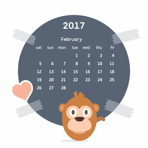 Календарь 2017 с обезьяны