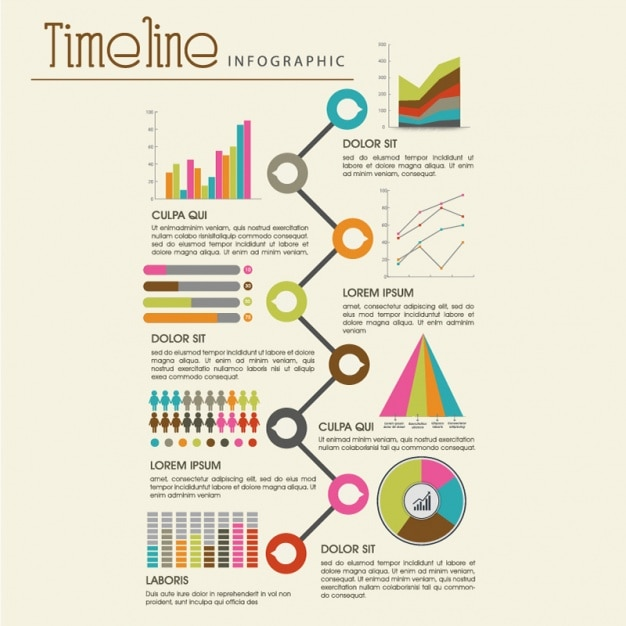 Create timeline infographic