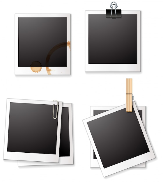 Polaroid picture template png