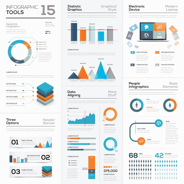 Infographic tool vector