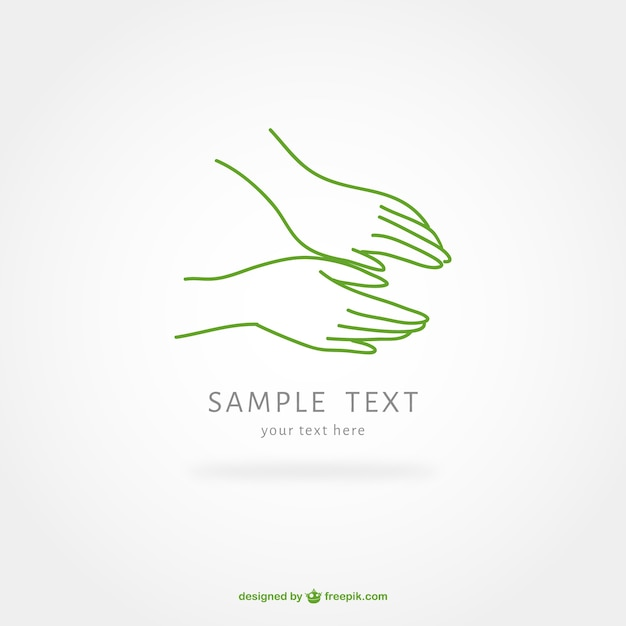 Massage therapy hand logo