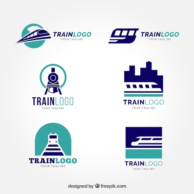 22 Train Logo Designs Ideas Examples  Design Trends