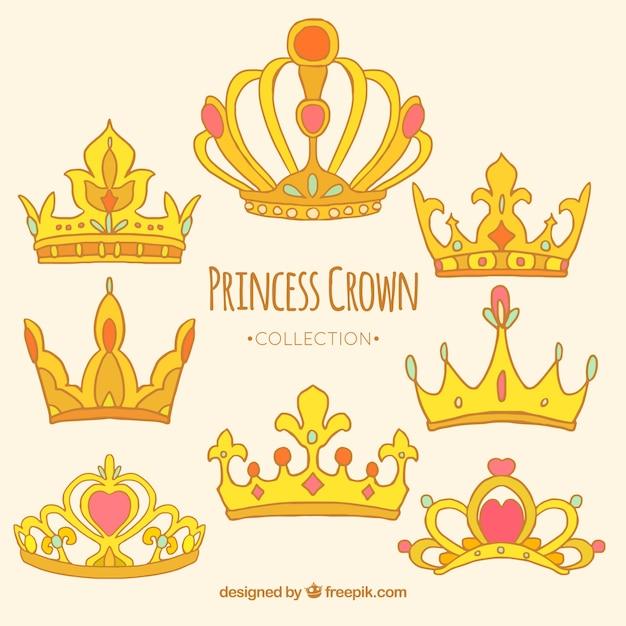 Captivating crown princess vector pics