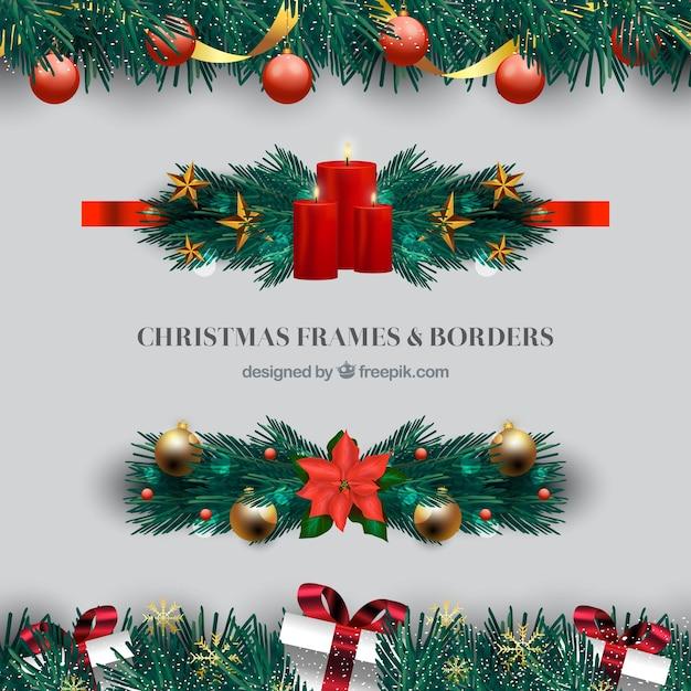 Elegant christmas border
