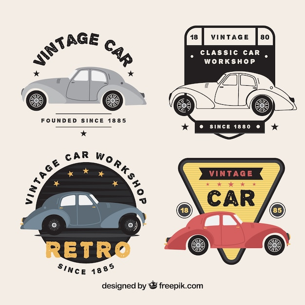 Vintage car logo vector