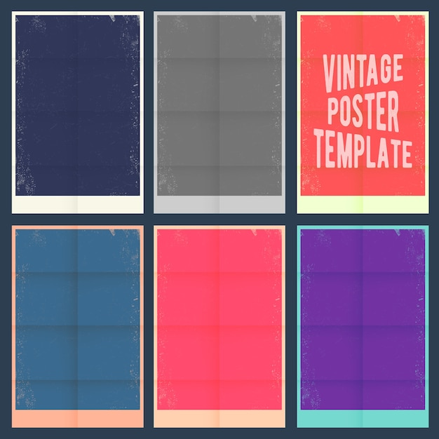 Vintage poster templates free