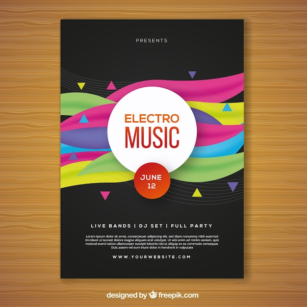 Music poster templates free