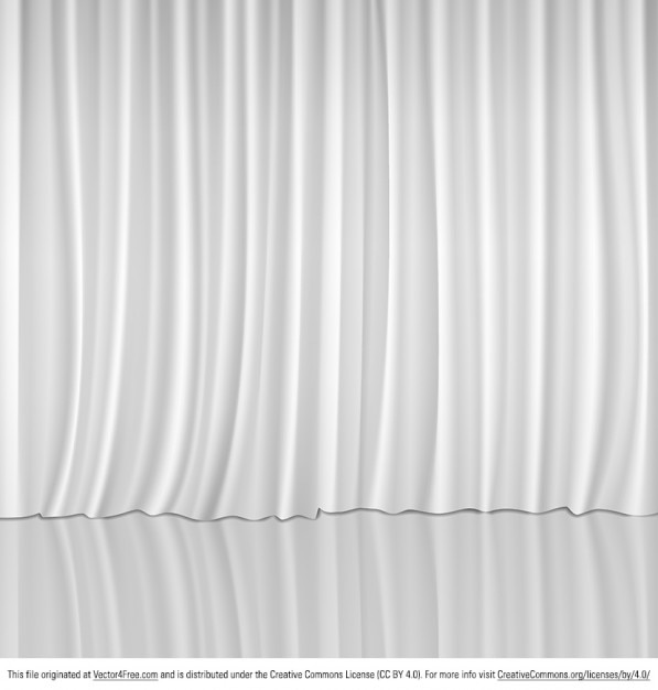 White Stage Curtains White Curtains For Show Stage Vector Free