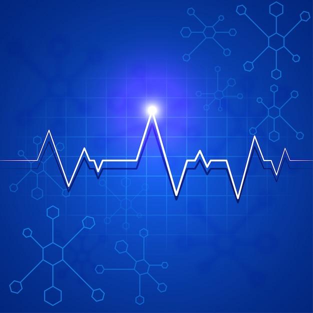 Vector heartbeat line