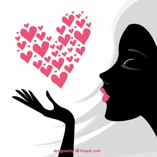 Womens heart vector