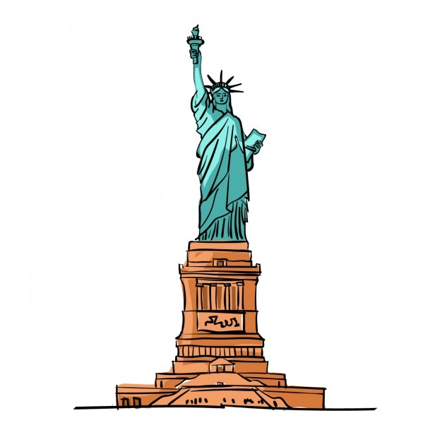 Marvelous statue of liberty vector pictures