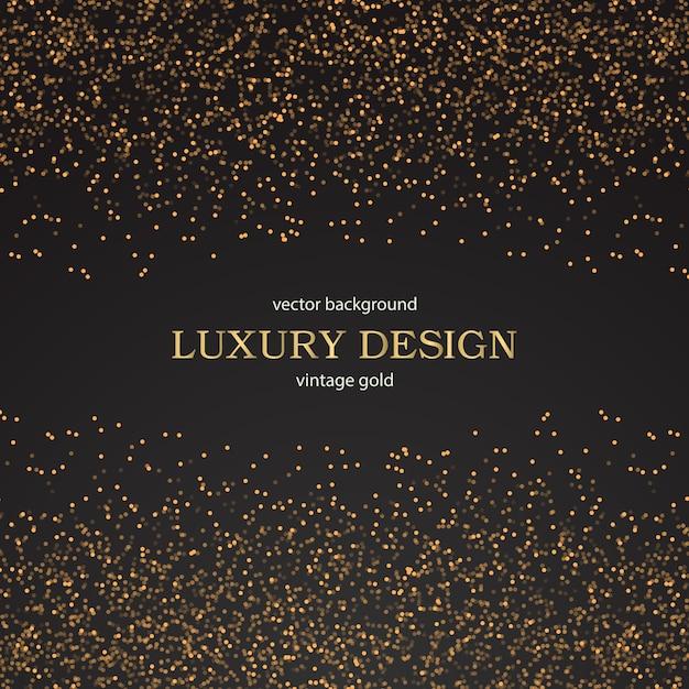 Luxe Gouden Behang Vintage Bloemen Patroon Vector Achtergrond Vector Gratis Download