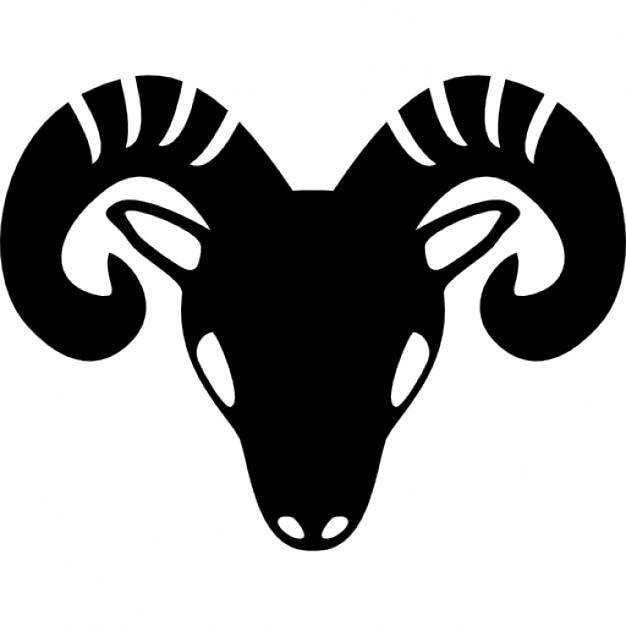 Baran Zodiakalny Symbol Czołowego Głowa Kozy Ikony Darmowe Pobieranie