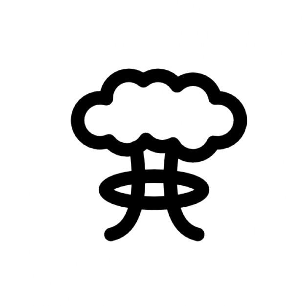 Bomba atomowa Darmowe ikony