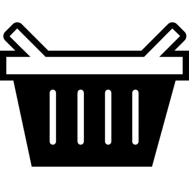 koszyk na zakupy lub piknik ios 7 interfejsu symbolu
