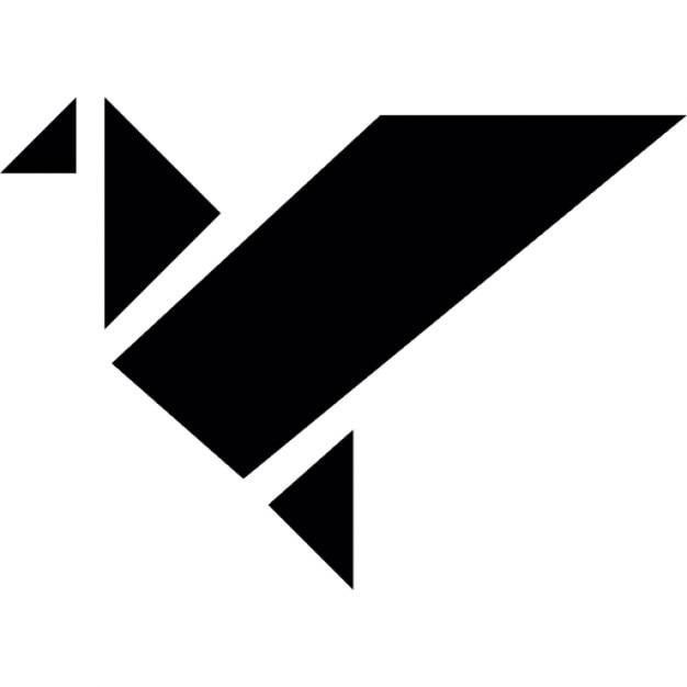 Origami Ptak W Locie Sylwetka Ikony Darmowe Pobieranie