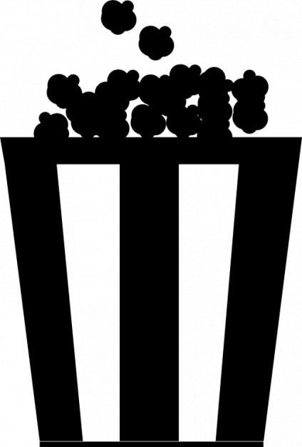 Popcorn w klasycznym pudełku Darmowe ikony