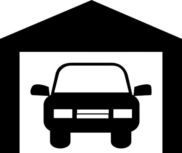 Samochód w garażu Darmowe ikony