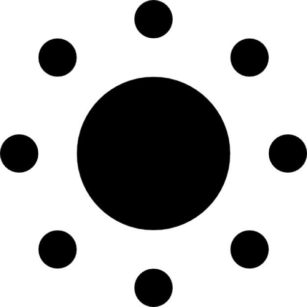 Słońce fill Darmowe ikony