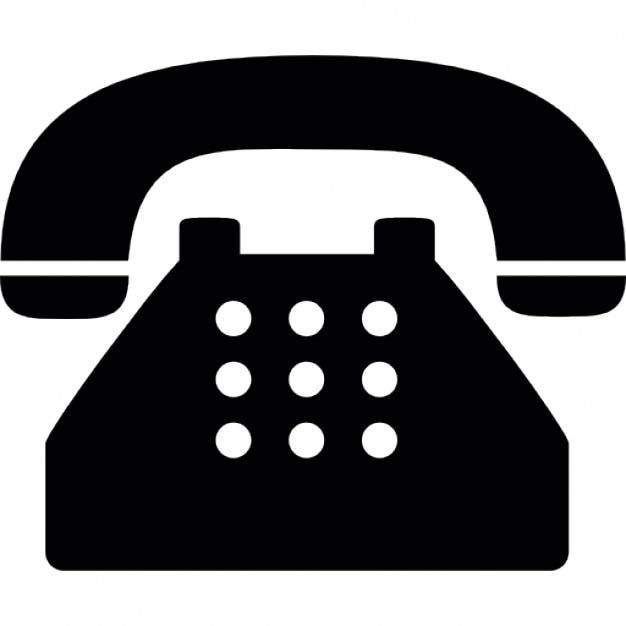 Stary typowy telefon Darmowe ikony