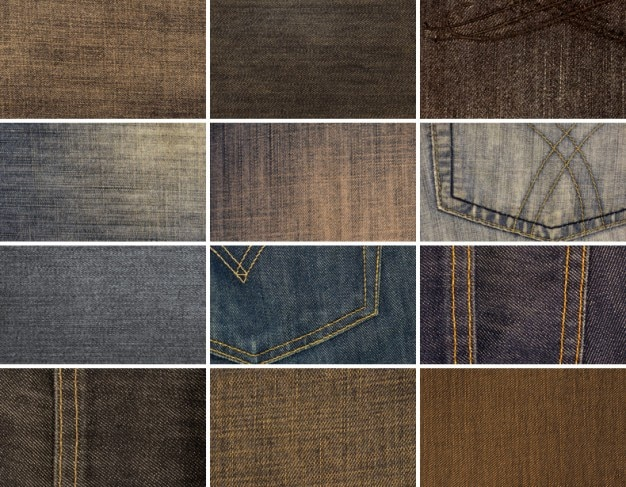 12 High Resolution Tekstury Denim Darmowe Psd