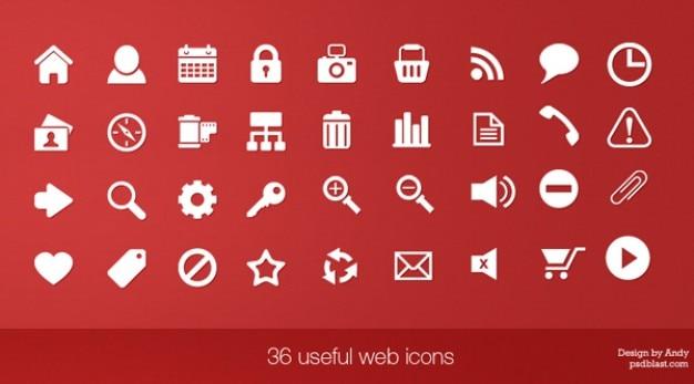 36 Przydatnych Web Ikony Darmowe Psd
