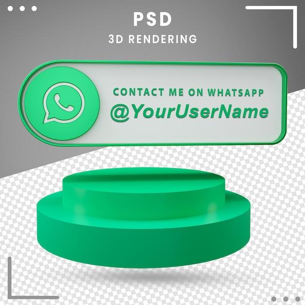 3d Ikona Makiety Mediów Społecznościowych Projekt Whatsapp Premium Psd