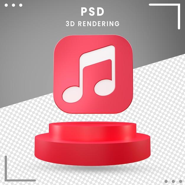 3d Obrócone Logo Ikona Projekt Muzyki Premium Psd
