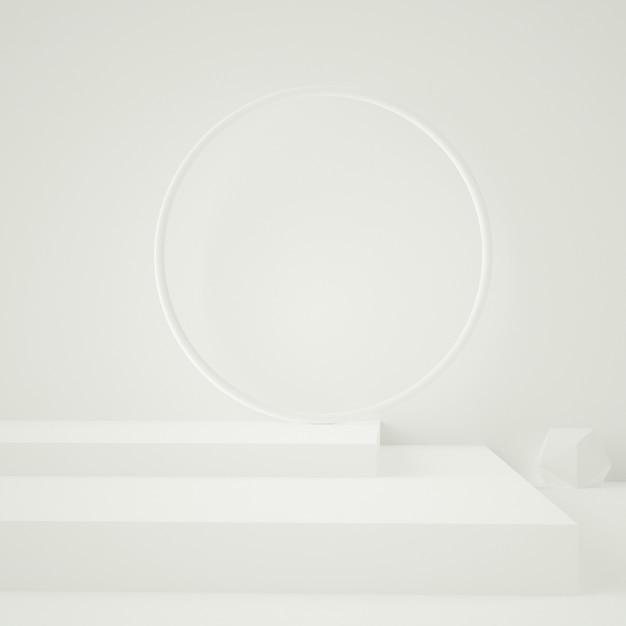 3d Odpłacają Się Biały Abstrakcjonistyczny Podium Premium Psd