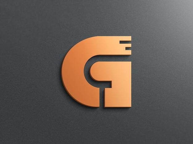 3d Realistyczna Makieta Logo Premium Psd