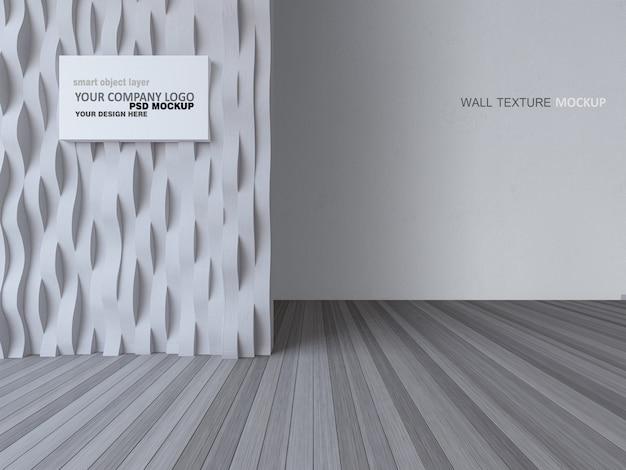 3d Renderingu Wizerunek Wewnętrzny Projekt Z Wygiętą ścianą I Wite Betonową ścianą Premium Psd